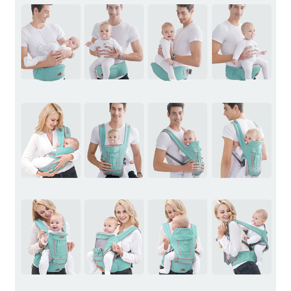 CYSINCOS 0-24 Months Portable Baby Sling Wrap Ergonomic Baby Carriers Backpacks Cotton Infant Newborn Baby Mom Dad Carrying Belt