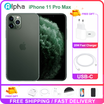 """100% Original Apple iPhone 11 Pro Max OLED Triple Rear Camera Cellphone 6.5"""" 4GB ROM 64/256GB Face ID A13 Chipset Unlocked Used 1"""