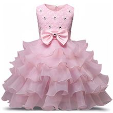 Baby Dresses 3-8-Years Costume Birthday-Outfits Flower Christmas Wedding-Party Girls