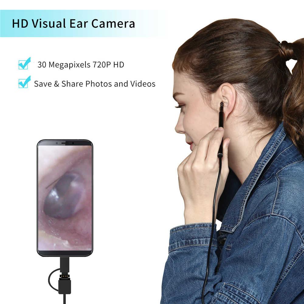 HD Visual Telinga Cleaner Profesional Otoscope Telinga Medis Membersihkan Eendoscope Telinga Pilih Kamera THT Alat dengan 6 Lampu LED 3IN1
