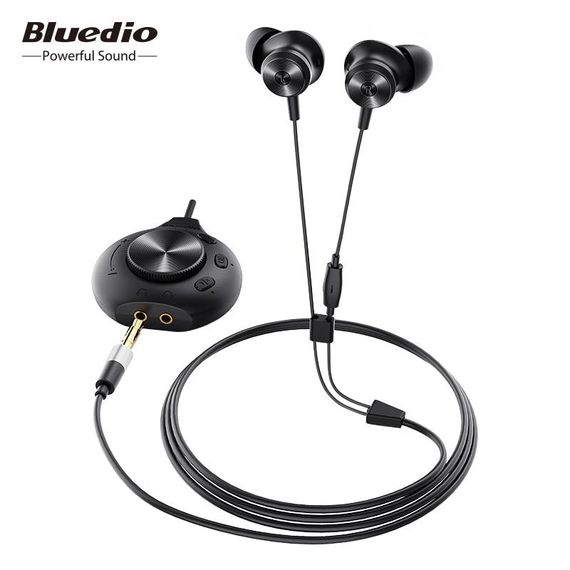 Bluedio Li Pro wired earphone 7.1 virtual sound card HIFI stereo headset built in microphone magnetic headset for phone PC|Phone Earphones & Headphones|   - AliExpress