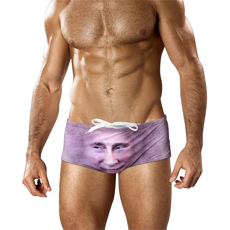 Summer Trump Putin 3D Boardshorts Drawstring Printing Beach Board Shorts Men Quick Drying Swimsuits Swimwear Beachwear Trunks