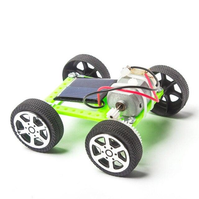 New Kids Solar Toys Energy Crazy Mini Solar Powered Toy DIY Car Solar Power Robot Children Educational Gadget Interactive toys 1
