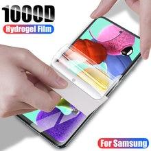 3Pcs Macio Completo Protetor de Tela Para Samsung Galaxy A51 A71 A50 A70 A40 A10 A20E Hidrogel Film para Samsung A20 A30 A60 A80 A90