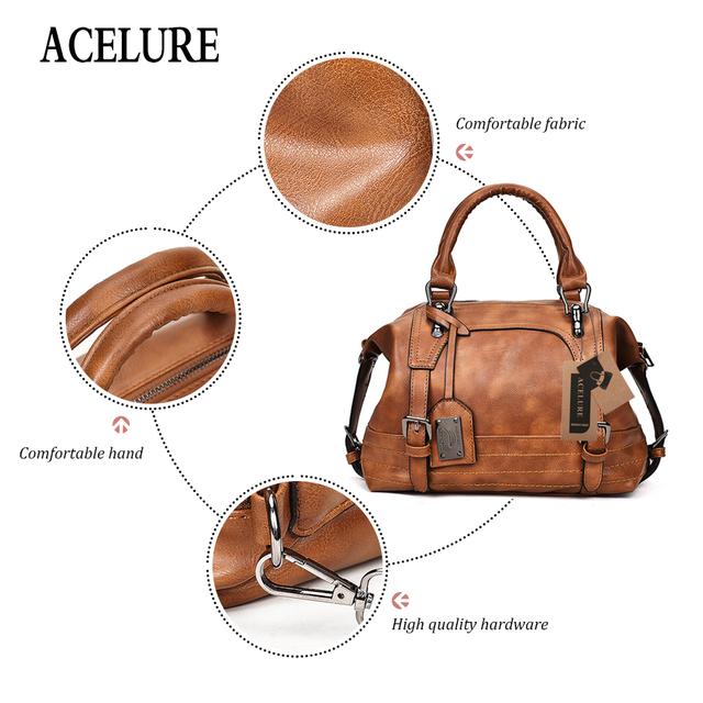 ACELURE Shoulder Bag In Women's Tote Brand Crossbody Bags for Women Messenger Bags Vintage Leather Bags Handbags Women Famous