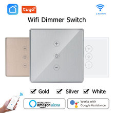 Wifi Dimmer Switch Smart Touch light switch Smart Life/Tuya APP Remote Voice Control works With Amazon Alexa Google Assistant wifi intelligent remote control touch switch alexa voice control app remote control smart switch