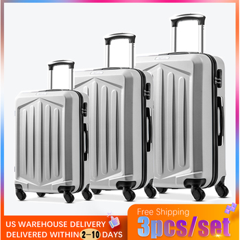 MERAX Family suit Rolling Luggage with Lock Spinner Lightweight High Strength Carry On Suitcase business Luggage