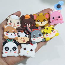Shoe-Charms-Accessories Shoes Animals Cow-Panda Pig-Rabbit-Tigter Decoration Wristbands