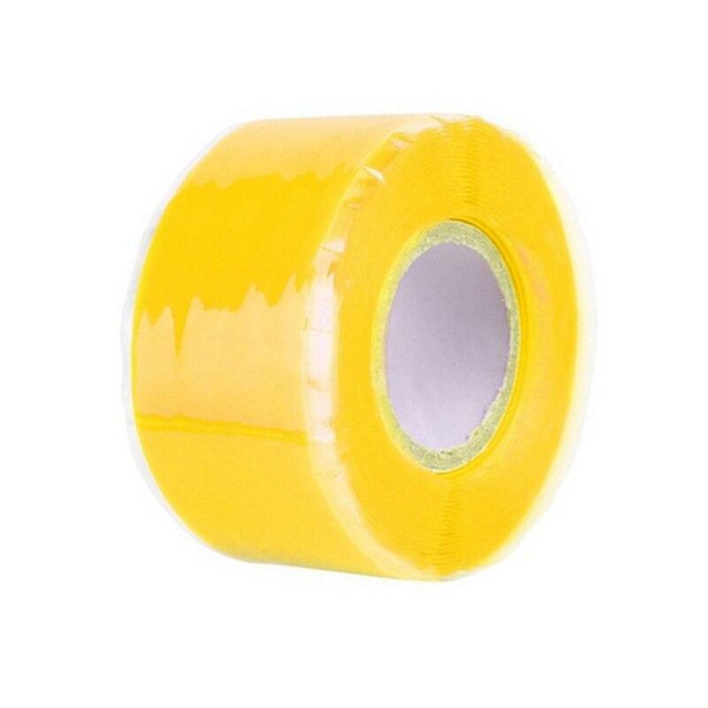 3 м/1,5 м x 2,5 см супер прочная волокнистая водонепроницаемая лента для остановки протечек уплотнительная ремонтная лента производительность самофиксация клейкая лента Fiberfix - Цвет: Цвет: желтый