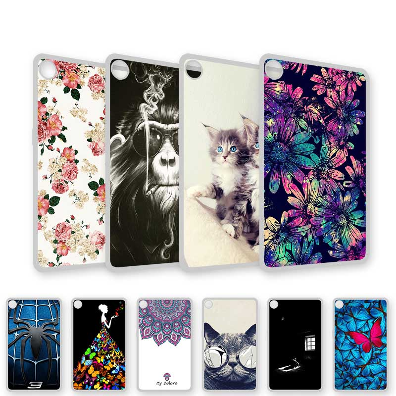 Painted Case For Lenovo Tab M8 HD TB-8505 8505 8.0 Inch Cases Waterproof Soft Silicone TPU Cartoon Tablet Cover Bumper Funda