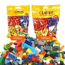 1000Pcs Designer Creative Classic Bricks City DIY Building Blocks Bulk Sets LegoINGLs Minecrafteds Educational Toys For Children цены