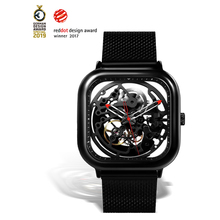 Ciga Heren Horloge 1Pc Sliver Rvs Mesh Mecanico Vierkante Beweging Eenvoudige Waterdichte Zwarte Mannelijke Horloges Heren Relogio