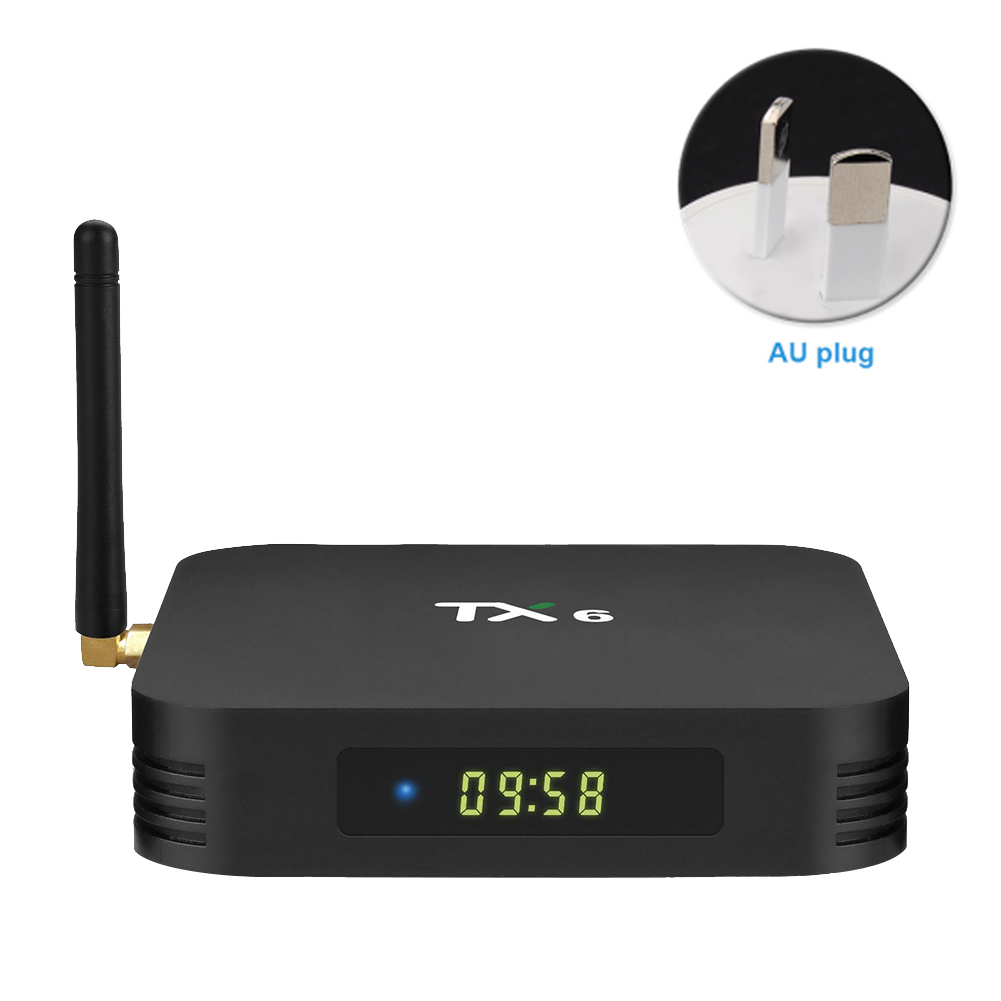 TX6 Audio Bluetooth Smart TV Box pour Android 9.0 facile à installer avec télécommande lecteur réseau haute définition Stable numérique