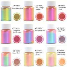 Mirror Chameleons  Resin Pigment Pearlescent Epoxy Resin Magic Discolor Powder D08F