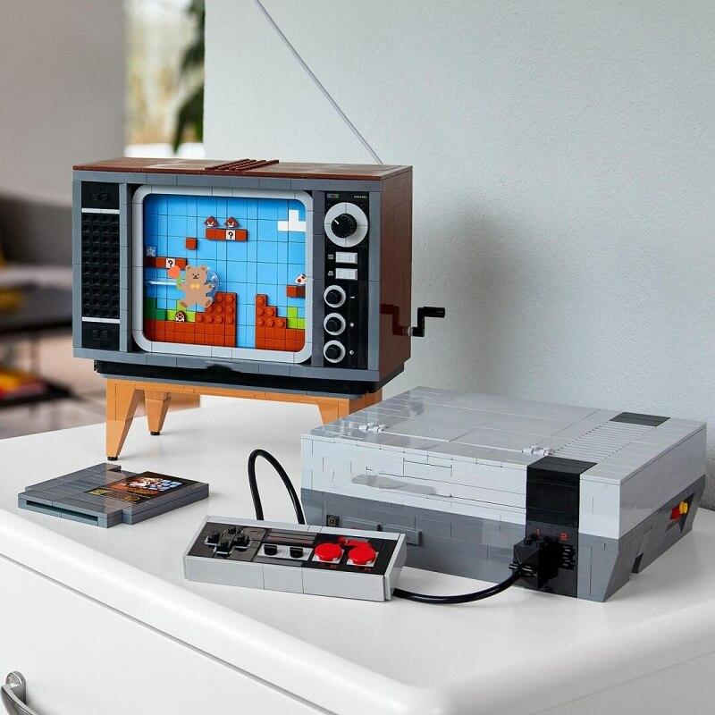 Новая консоль Nintendo с супер марионами, модель развлекательной системы, блоки, конструктор, ТВ игра, детские игрушки, подарок для детей 71374