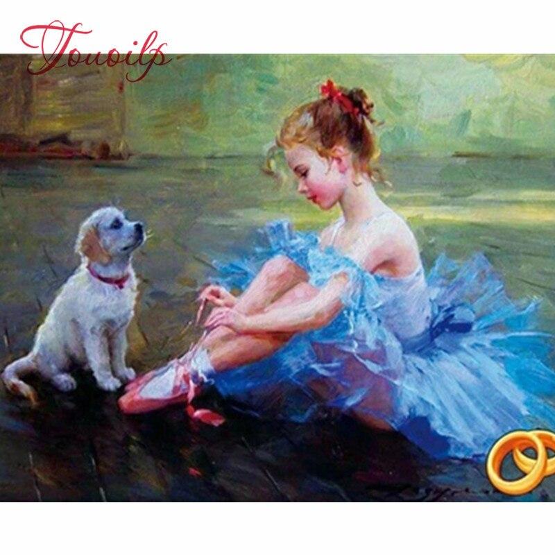 Cachorro Perro Hágalo usted mismo 5D Diamante animal Cross Stitch Kit de bordado de Pintura Decoración del hogar