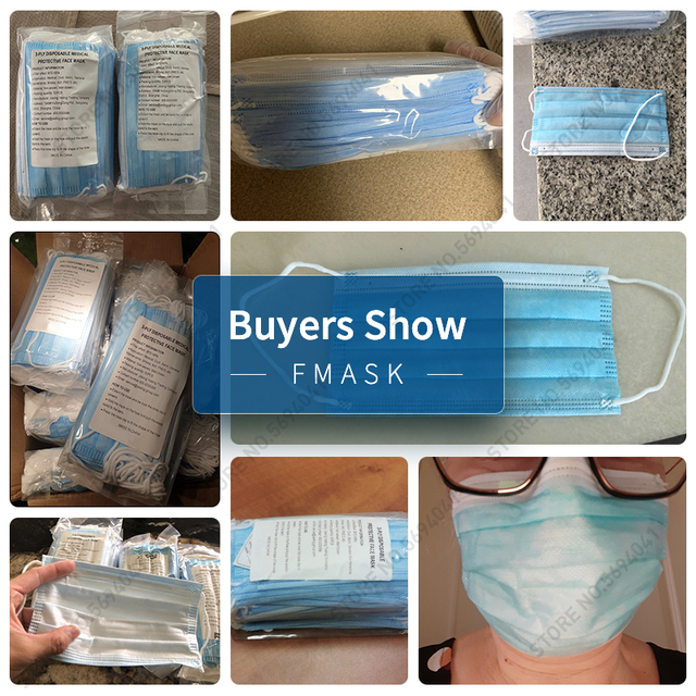 100pcs Fast delivery Face Mask Disposable Nonwove 3 Layer Mouth Face maskes Filter Safe Breathable Dustproof Protective Masks 2