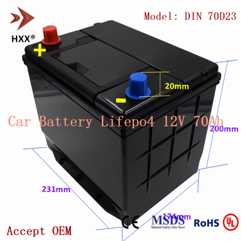12V 70Ah Lifepo4 Battery Pack CCA 700A Compatible Gas Car 12V Lead Acid Battery for Odyssey-09 Focus Kuga Outlander Chevrolet image