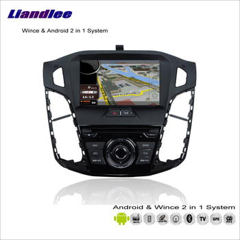 Liandlee For Ford Focus 2012~2014 Car Radio CD DVD Player GPS Nav Map Navigation Advanced Wince & Android 2 in 1 S160 System