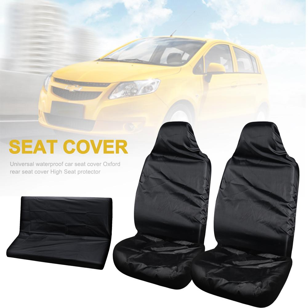 Universal Waterproof Front Rear Car Seat Cover Protectors Seat Covers Water Resistant Car Seat Cover Car Interior Accessories