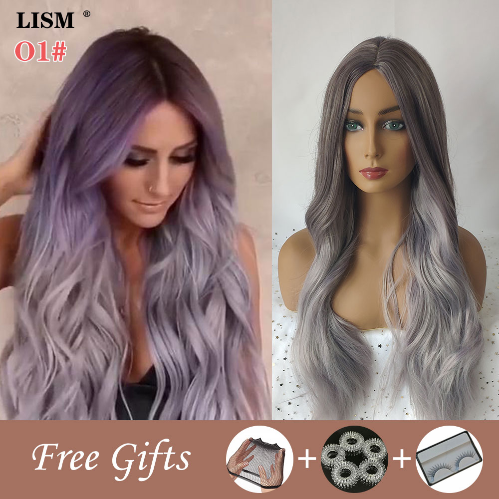 New Wigs For Women Synthetic Pastel Long Layered Wig Perruque Blonde Bigoudis Cheveux Pour Femme Peruki Damskie Naturalne