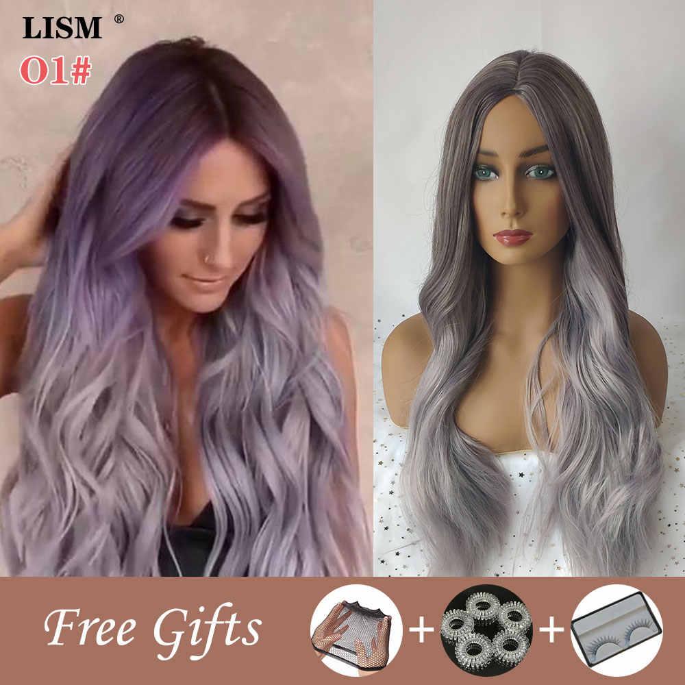 Nieuwe Pruiken Voor Vrouwen Synthetische Pastel Lange Gelaagde Pruik Perruque Blonde Bigoudis Cheveux Giet Femme Peruki Damskie Naturalne