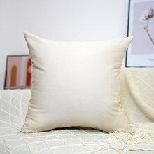 100% cotton Cushion Cover Pillowcase Solid Color Pillow Case Decor Sofa Throw Pillows Room Pillow Cover Decorative Wholesale
