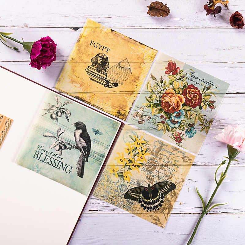 8 Stks/set Vintage Vogel Engels Letters Velijn Papier Pack Voor Scrapbooking Gelukkig Planner Kaart Maken Junk Journal Project