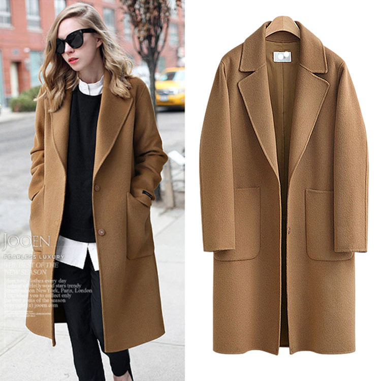 Women's Autumn And Winter New European And American Brand Plus Size 5XL Loose Thick Medium-length Fur Coat Woman Woolen Jackets