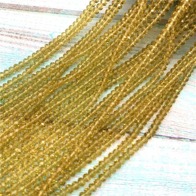 40 colors available 1strand 2X3mm/3X4mm/4X6mm crystal rondelle beads crystal beads glass beads for jewelry making diy