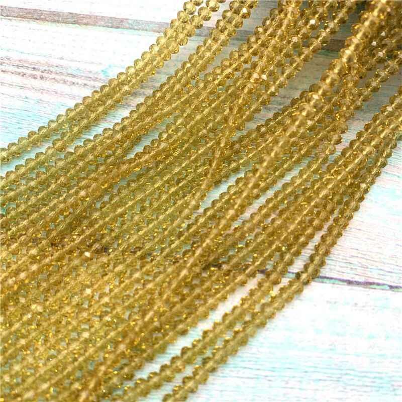 40 kolory dostępne 1strand 2X3mm/3X4mm/4X6mm kryształ rondelle koraliki kryształowe paciorki szklane do tworzenia biżuterii diy