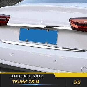Para Audi A6 C7 2011-2019, diseño de coche, decoración de la puerta trasera del maletero, molduras de Marcos, pegatina cromada, accesorios exteriores