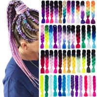 VERVES Flechten Haar 1 stück 24 zoll Jumbo Zöpfe 100g/stück Synthetische ombre hoch temperatur Faser Haar Extensions häkeln geflecht