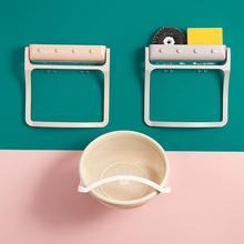 Kitchen Vegetable Basket Shelf Multifunctional Wall Mounted Non Perforated Household Storage Shelf Folding and Rotating