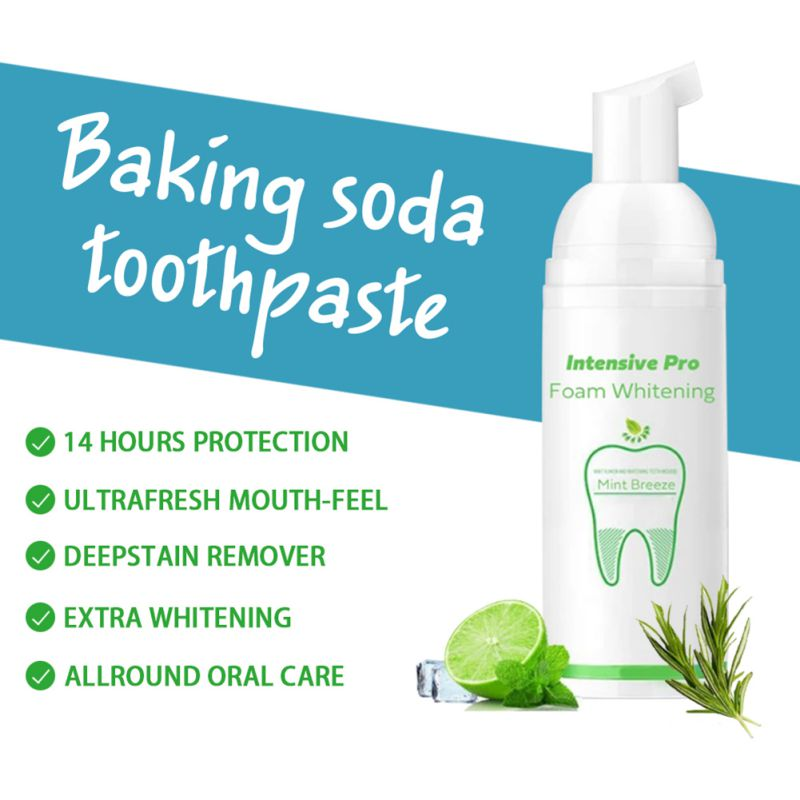 Teeth Whitening Oral Hygiene Removes Plaque Stains Bad Breath Blind Shipping Mousse Toothpaste Foam
