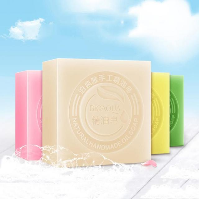 9 Colors Essential Oil Soap Cleansing Oil Soap Beauty Treatment Handmade Soap Cosmetics Removal Pimple Pore Acne Treatment TSLM2 3