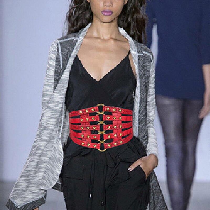 Fashion Self Tie Wide Belts Women Corset Body Shaper Black Faux Leather Waist Belt PU Leather Waistband Female Belts Hot Sale