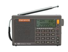Radiwow SIHUADON R-108 FM Stereo Digital Portable Radio AM SW Air Radio Sound Alarm Function Display Clock Temperature Speaker