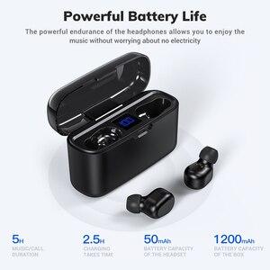 Image 2 - Topk Draadloze Hoofdtelefoon Tws Bluetooth 5.0 Oortelefoon IPX5 Waterdichte Stereo Oordopjes Sport Koptelefoon Headsets Voor Iphone Xiaomi