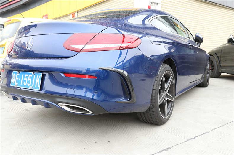 Spoilers Voor Mercedes-Benz W205 C-Klasse Coupe C200 C300 C63 2015-2019 Carbon Fiber Rear Side voorzijde Air Outlet Diffuser Spoiler