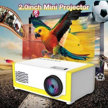 Dropship portátil mini projetor 1080p suporte 1080p mini projetor para casa av usb portátil bolso beamer projetor de cinema em casa