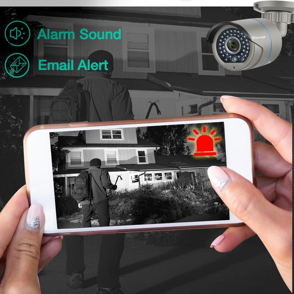 Techage H.265 2.0MP бяспека CCTV POE IP-камеры - Бяспека і абарона - Фота 6