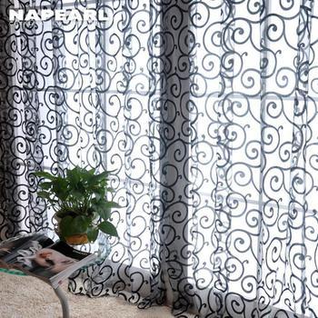 Moda moda kurtyna okno przesiewowe gotowy produkt jakości kurtyny tanie i dobre opinie NAPEARL Translucidus (stopa cieniowanie 1 -40 ) Ogólne zakładka Lewy i prawy biparting otwarta Zewnętrzne instalacji