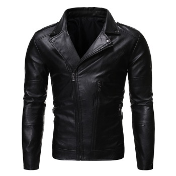 2020 Men's Leather Jacket zipper design High Quality Leather Brown Men Jacket Leather Men Jacket And Coat jaqueta de couro