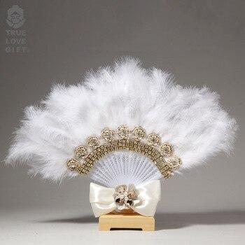 Abanico de plumas de encaje personalizado Para Boda, Para decoración Para hogar...
