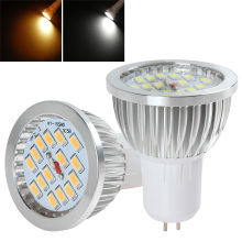 GU5.3 15 x SMD 5730 LED Light Spotlight AC 86-240V 6W 640-720LM Warm White Color Ceiling Bulb Lighting Accessories