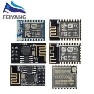 Image 1 - 10PCS ESP8266 ESP 01 ESP 01S ESP 07 ESP 12 ESP 12E ESP 12F serial WIFI wireless module wireless transceiver 2.4G