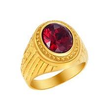 Мужские кольца из нержавеющей стали винтажные золотые цвета