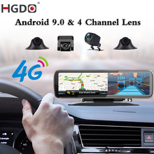 DVR Dashboard-Camera Rearview-Mirror Video-Recorder Registrar 4-Channel-Lens ADAS Android