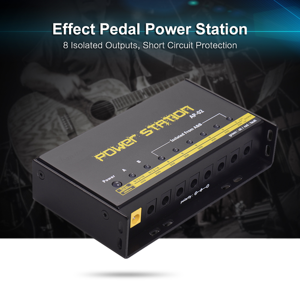 AC Adapter For JOYO Wireless Rechargeable Effects Pedal Power Supply 9 12 18V